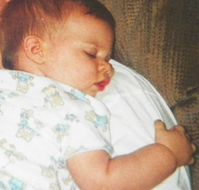 Cheryl's son, Zachary, as a baby